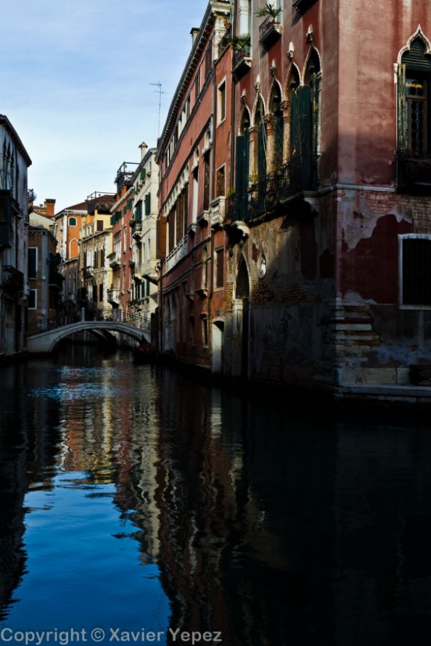 Another quiet canal surrounded by colorful houses, Venice, Italy
