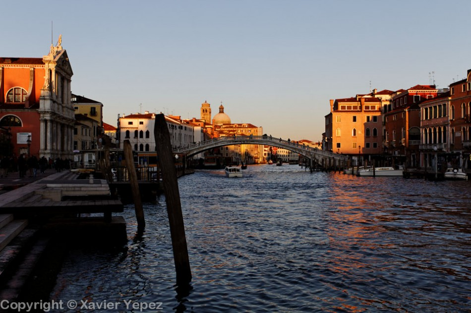 Another angle of one of the first views for turists, the canal in front of the train station, Venice, Italy