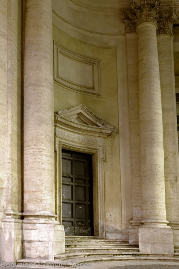 The entrance to the church Santa Maria in Montesanto Piazza del Popolo, Rome, Italy