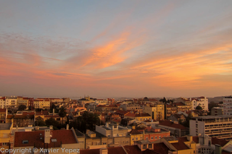 Lisbon, Portugal sunset