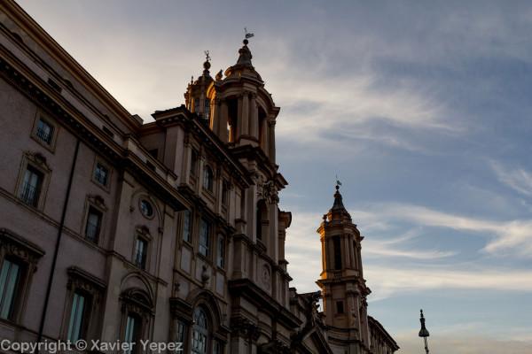 Piazza Navona - church Sant'Agnese in Agone, facade