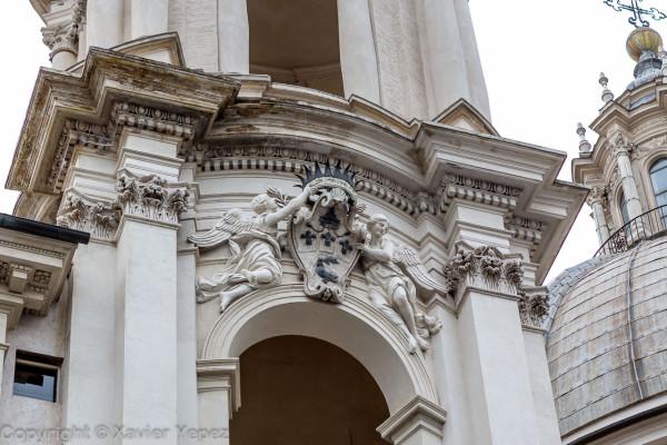 Piazza Navona - church Sant'Agnese in Agone, facade detail