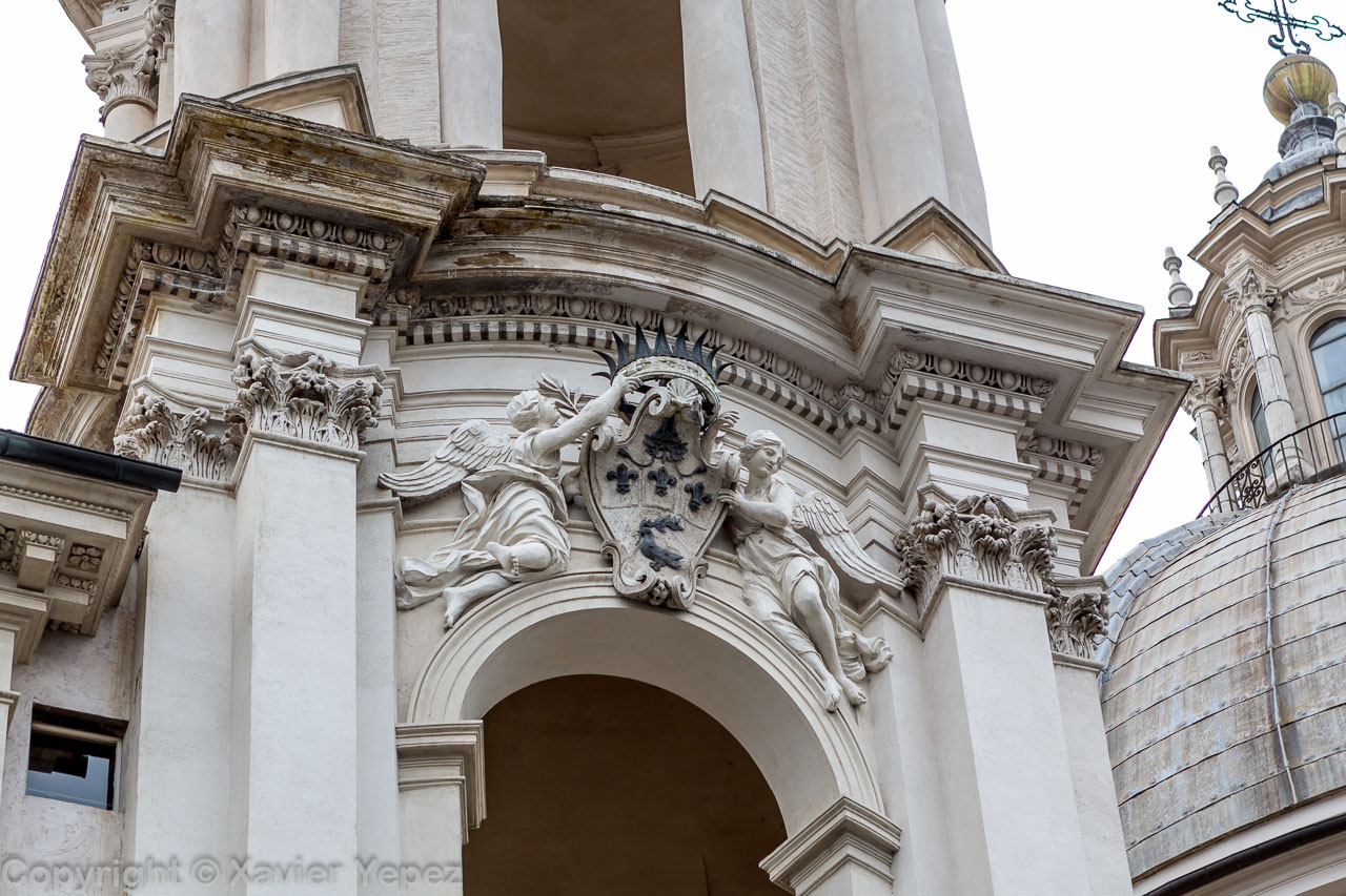 Piazza Navona - church Sant'Agnese in Agone, facade detail