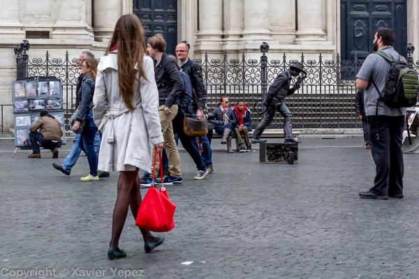 Piazza Navona, street performer 2