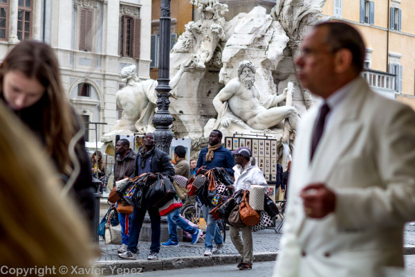 Piazza Navona - street vendors