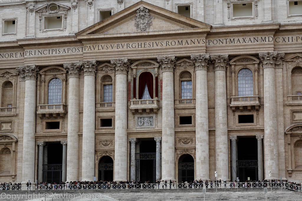 Saint Peter's Square - entrance to Basilica, pre conclave