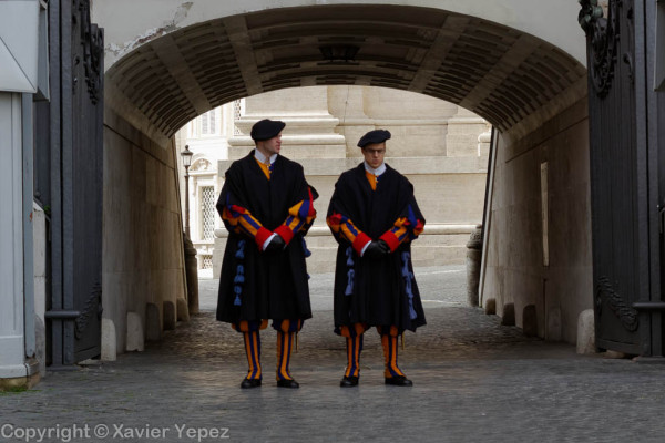 Saint Peter's Square - swiss guards