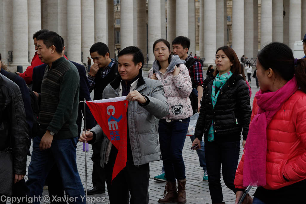 Saint Peter's Square - people from all over the world