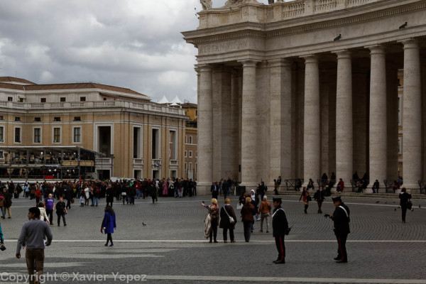 Saint Peter's Square - preparations, pre conclave