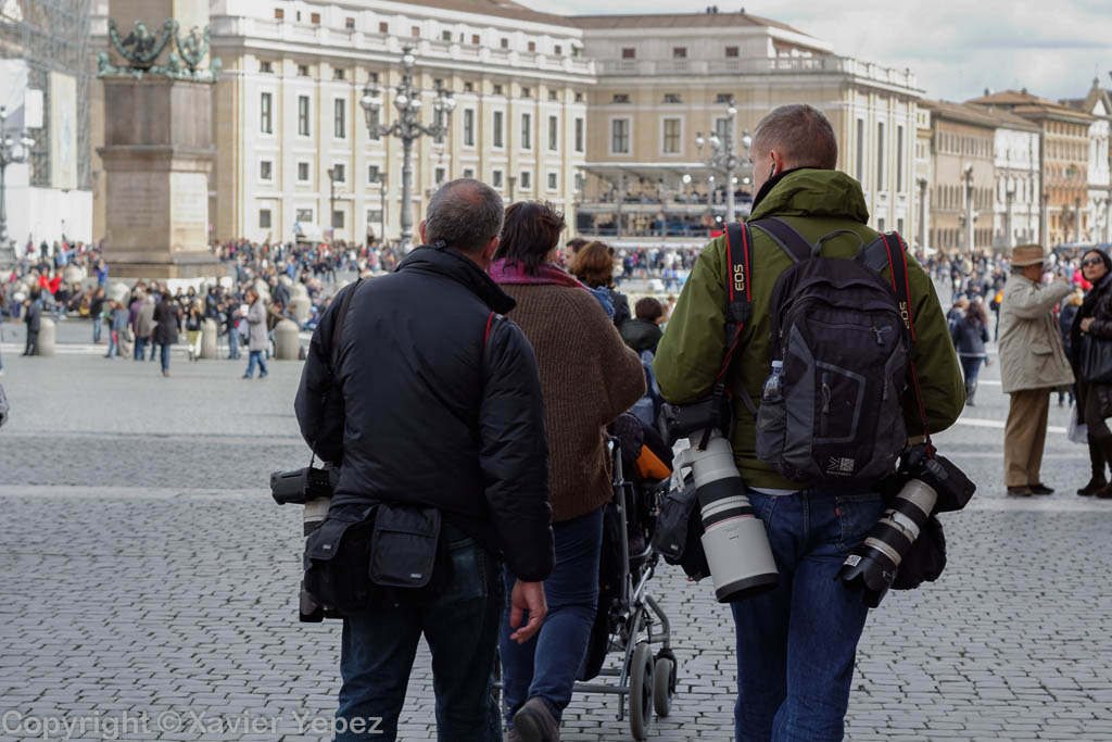 Saint Peter's Square - reporters for conclave
