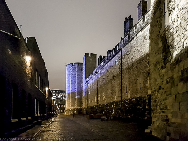 Tower of London at night - inside the walls