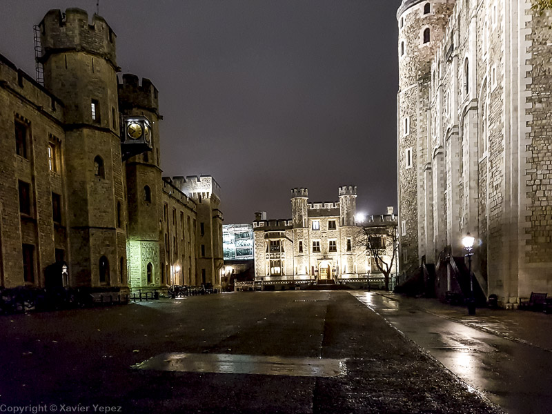 Tower of London at night - near White Tower