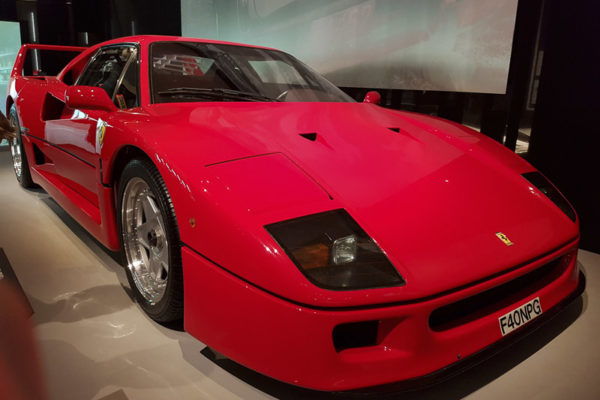 Ferrary F40 at The Design Museum, London